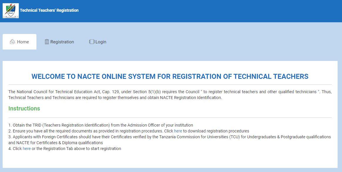 Technical Teachers Registration System