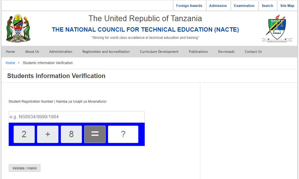 Student Information Verification