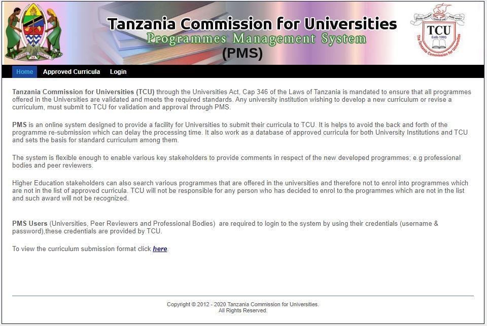 University Programme Management System (PMS)