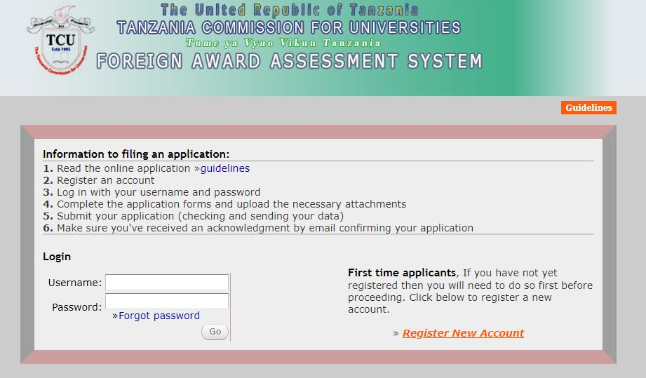 Foreign Awards Assessment System(FAAS)
