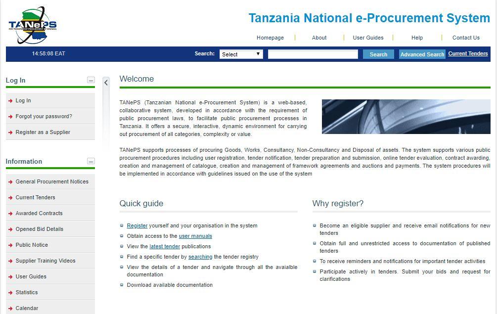Tanzanian National e-Procurement System