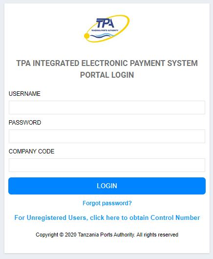 Ports Payment System Portal