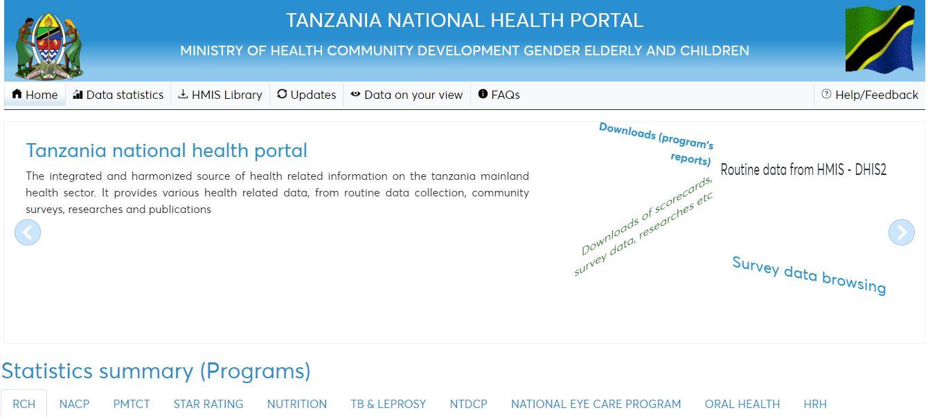 National Health Portal for Tanzania