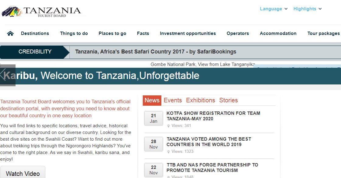 Tanzania Tourism Portal