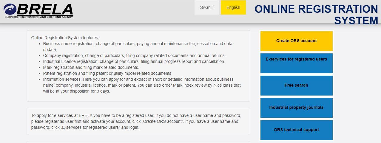 Brela Online Registratio System