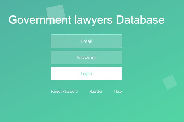 Government Lawyers Database