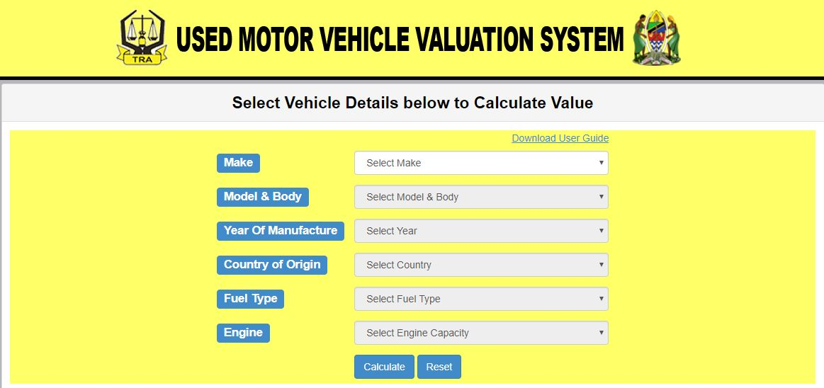 Used vehicle valuation system