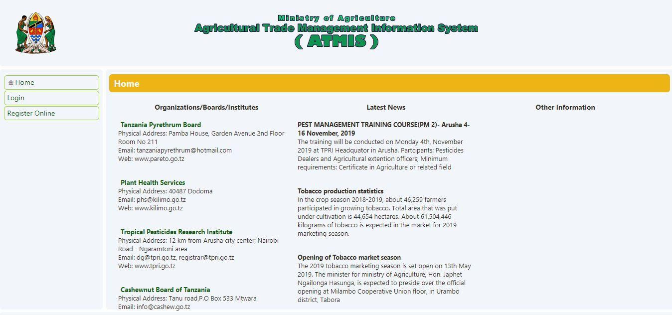 Agricutural trade information