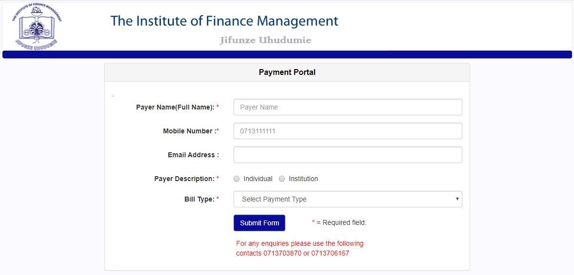 IFM Payment Portal