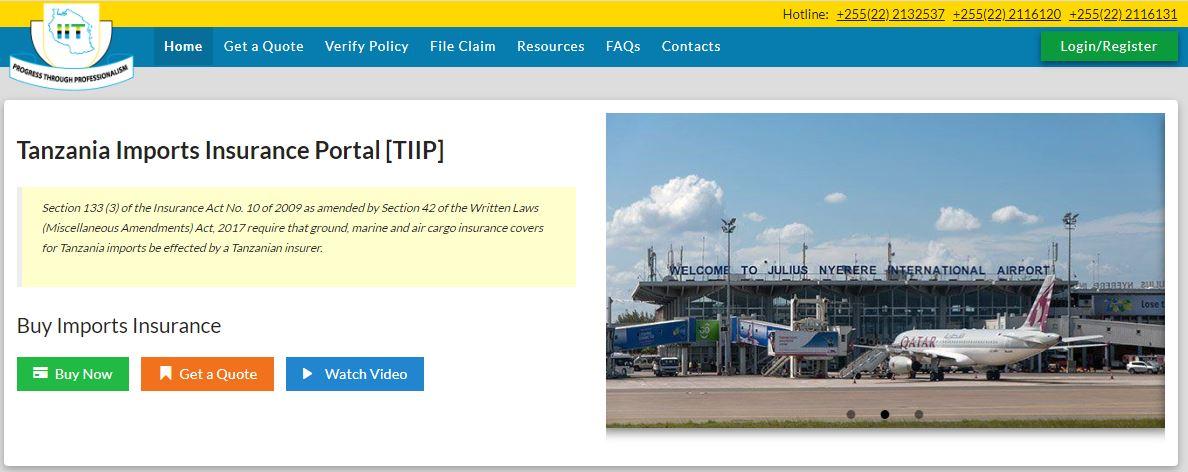 Tanzania Imports Insurance Portal