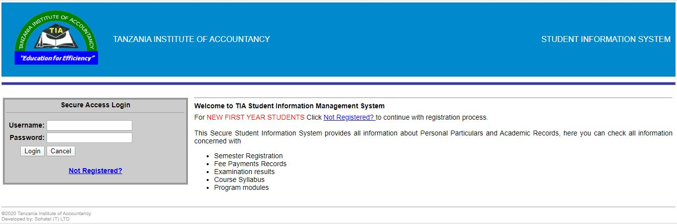 TIA Student Information system